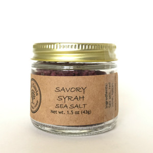 Savory Syrah Sea Salt | didi davis food | Artisanal Sea Salt Blend