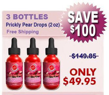 Natural Home Cures Prickly Pear Drops = 3 Pack