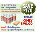 5 Bottles Natural Home Cures Freeze Dried Rich Pericarp Mangosteen Capsules Plus 1 Mangosteen Acai Berry Soap (4 oz)