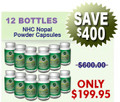 12 Bottles Natural Home Cures Freeze Dried Nopal Powder Capsules (Prickly Pear) 500 mg x 120  Capsules