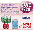 Existing Cient Special - 4 Bottles Nopal (120 caps / 500 mg) Plus 2 Bottles Prickly Pear Drops 2 x (2 oz) & 1 Pure Alkaline Water Drops With Bioavailable Coral Calcium (60 sachets)