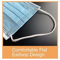 Surgical Mask Comfortable Flat Loop Design