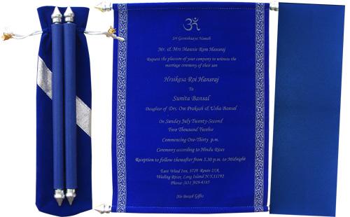 Handmade scroll invitation, cindrella scroll invitation, cheap scroll invitation