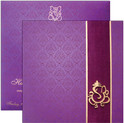 Invitation with envelope - I-0130 - PURPLE