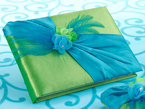 Blue and Green Guest Book and Pen Set