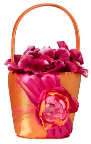 Hot Pink & Orange Flower Basket