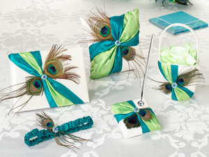 Peacock Feather Ceremony & Reception Set