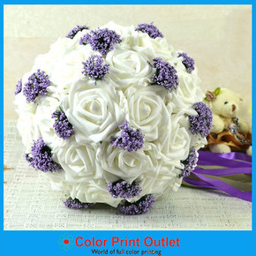 Romantic Bridal bouquet/ wedding bouquet with 29 flowers Artificial Rose flowers