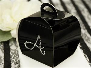 100 Personalized Diamond Letters Cupcake Purse Favor Boxes