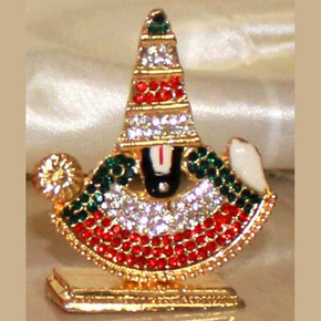 Indian Gift Favors ( Color stone Studded Perumal)