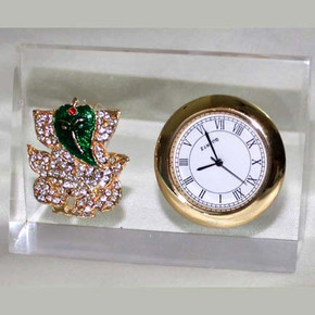 Indian Gift Favors (Table top ganesh with clock)