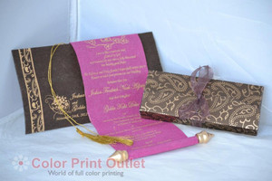 Mini Scroll with matching pouch & envelope (Set of 25) - MSPU -002 Baby shower invitation, Birthday invitation