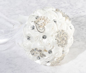 White Crystal Flower Bouquet