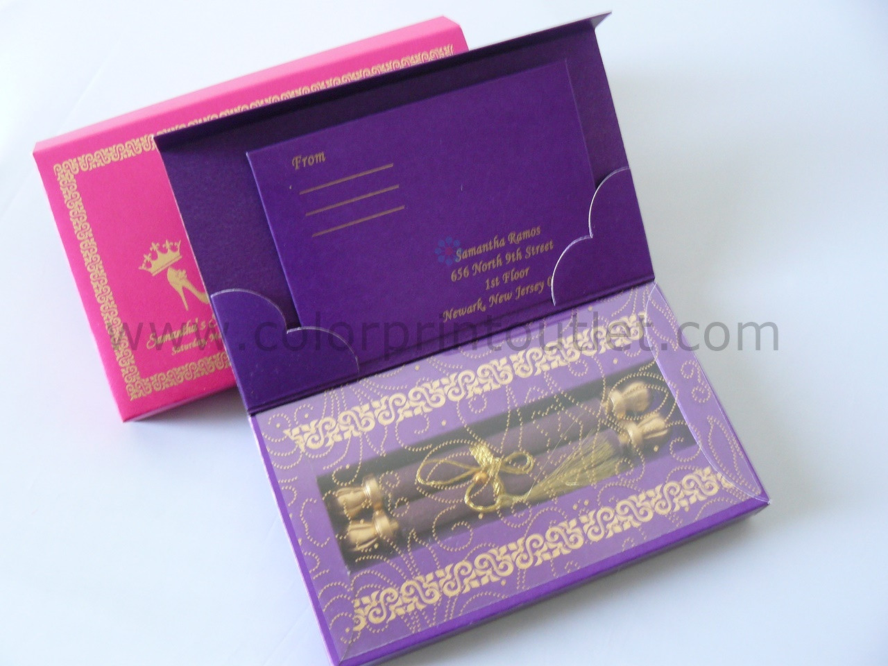 Mini Scroll Box Invitation