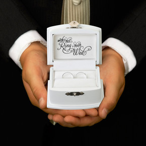 Ring Bearer Box - White