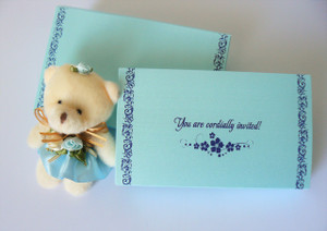 Under the Sea theme Sweet sixteen invitation, Quinceanera (Set of 25) - MSBT - 013
