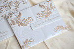 Luxury premium grade metallic finish invitation Folio Invitation - LYNN01