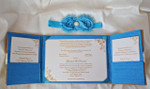 Burlap Folio Invitation --- BF-102 - Open view