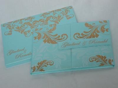 Luxury premium grade metallic finish invitation Folio Invitation - LYNN03