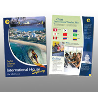 Brochure - 8.5x14 - Double Side -100# glossy - 1000