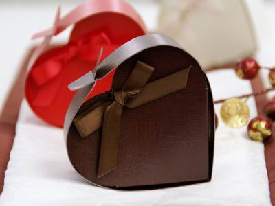 Chocolate Heart Favor Box