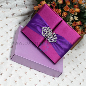 Silk Box Invitation ---T254 PK