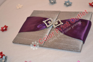 Satin/Silk Folio Invitation --- DSC-101