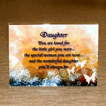 Daughter plaque in acrylic easel frame