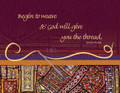 Begin To Weave And God Will - Greeting Card
