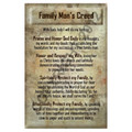 Family Man's Creed -Prayer Card