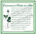 Prayer Card - Baby Loss - 1 card - SPANISH