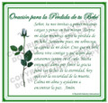 Prayer Card - Baby Loss (24 cards in pack.) SPANISH