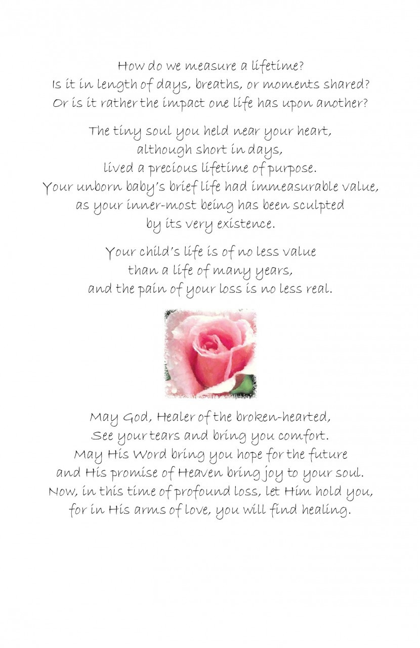 Miscarriage Greeting Card - A Tiny Flower