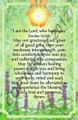 I am the Lord Who Heals You - Healing Prayer Card