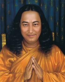Paramhansa Yogananda Photo - Pronam on Gold Chair 8x10