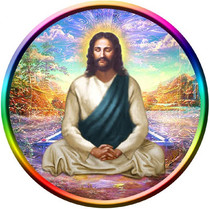 Static Cling Sticker - Jesus Meditating in the Astral World
