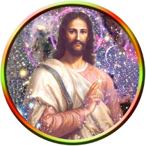 Static Cling Sticker - Cosmic Christ