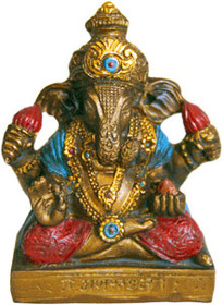 Statue - Mini Ganesh - Bronze