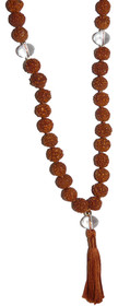 Kriya Mala - Rudraksha with Quartz Crystal Counters - 6mm