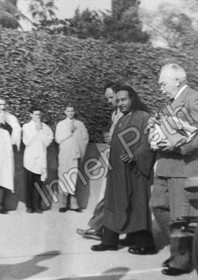 Paramhansa Yogananda Photo - Dr. Lewis and Monks - 5x7