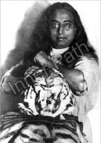 Paramhansa Yogananda Photo - Tiger Skin - 5x7