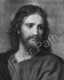 Jesus Christ Photo B&W 5 x 7