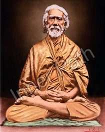 Swami Sri Yukteswar Picture - In Lotus Asana Color  - 5x7