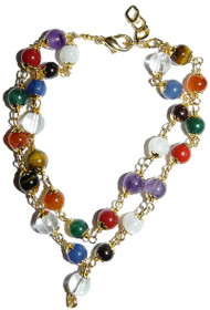 Navaratna - Bracelet (Silver Caps)