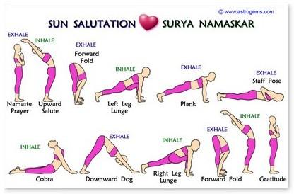 wallet card  sun salutation guide  inner path