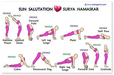 wallet card  sun salutation guide  inner path