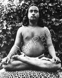 Paramhansa Yogananda Photo - Lotus Pose on Tiger Skin - 8x10