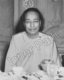 Paramhansa Yogananda Photo - Last Smile (Uncropped), B&W, 8x10