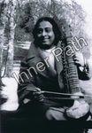 "Paramhansa Yogananda Photo - Playing an Esraj - 4"" Card"