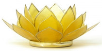 Lotus Tea Light Holder - Citrine - Sucess